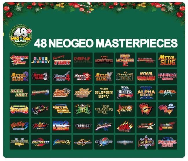 「NEOGEO mini クリスマス限定版」収録48タイトル