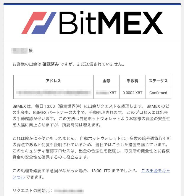 BitMEX(ビットメックス)の出金方法