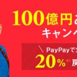 PayPay(ペイペイ)100億円あげちゃうキャンペーン
