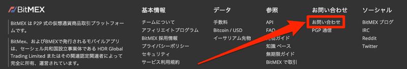 BitMEX_お問い合わせ