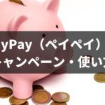 PayPay(ペイペイ)のキャンペーン・使い方