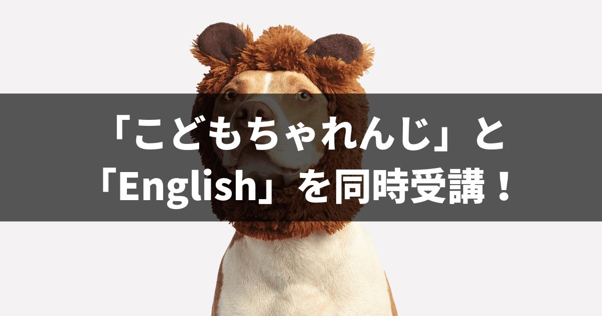 「こどもちゃれんじ」と「English」を同時受講!