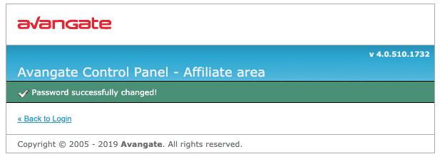 Avangate_cPanel_パスワード変更完了