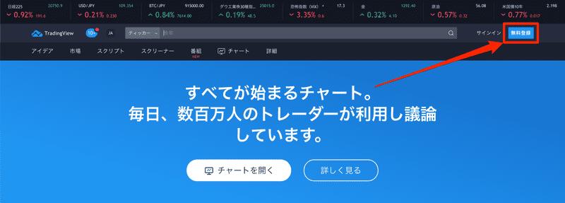 TradingView_無料登録