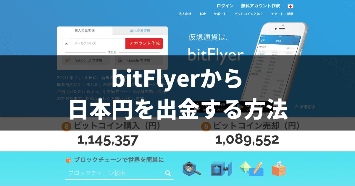 bitFlyerから日本円を出金する方法