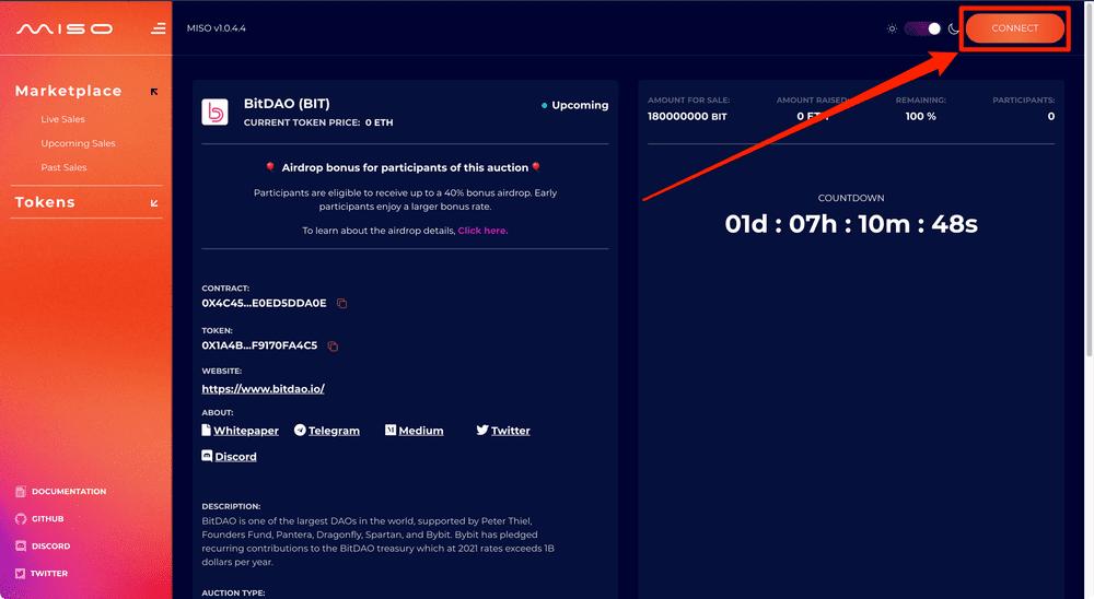 BitDAO(BIT token)の購入方法